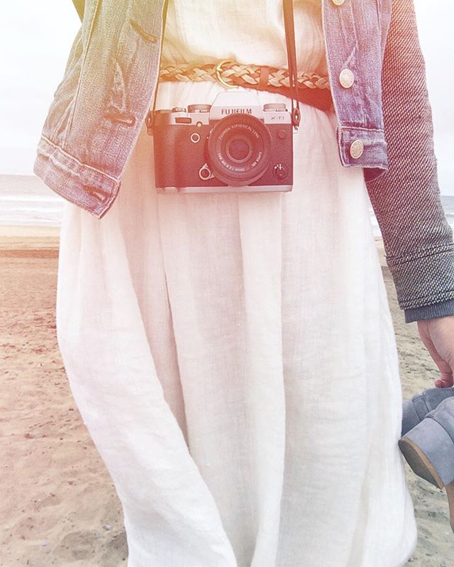 Beach stroll #selfie. 📷 - #handmade #linen #gauze #dress #fortheloveoflinen #madeinvancouver #madeincanada #shopsmall #shoplocal #instastyle #ootd #oceanbeach #sanfrancisco #california #sfo #californialove #californiadreaming #fujifilm #fujixseries #fujixt1