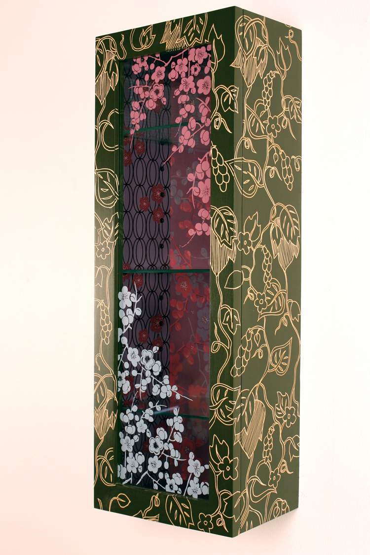 Purple Cherry Blossom Cabinet