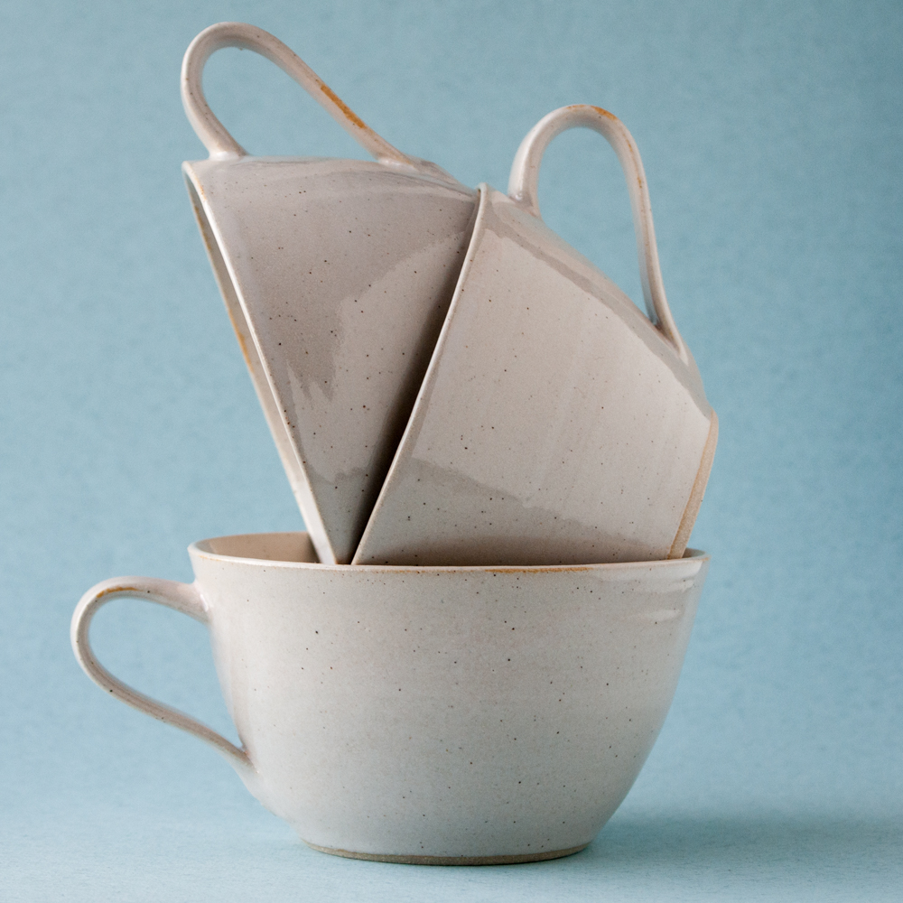 Topsy Jewell grey ceramic tea cups photographed by Katie Vandyck