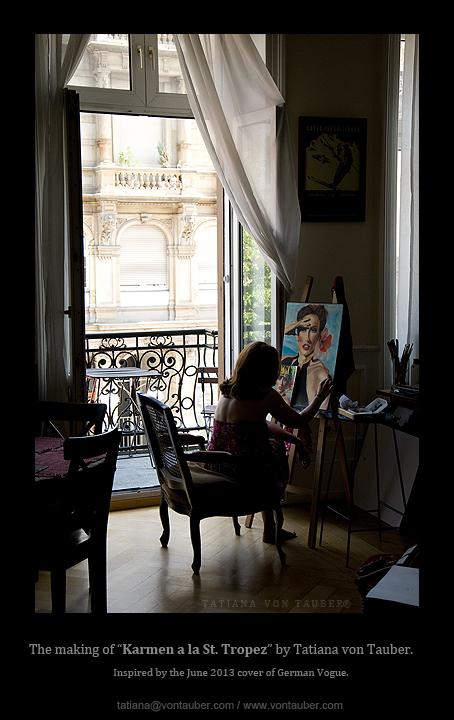 "Painting ""Karmen a la St. Tropez"", Wiesbaden, Germany 2013"