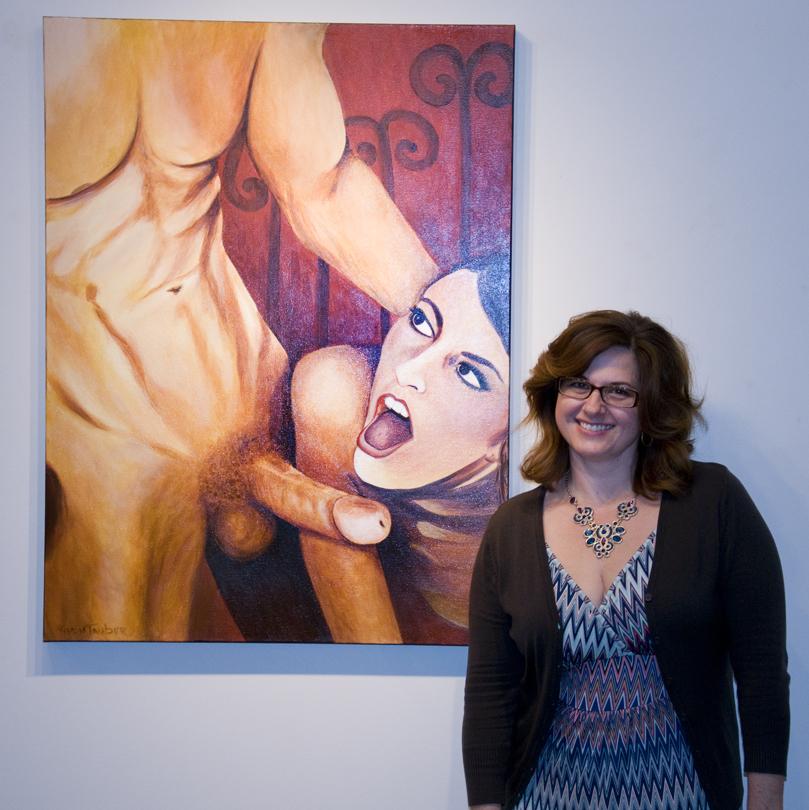 "Tatiana von Tauber posing with ""Don Juan"""