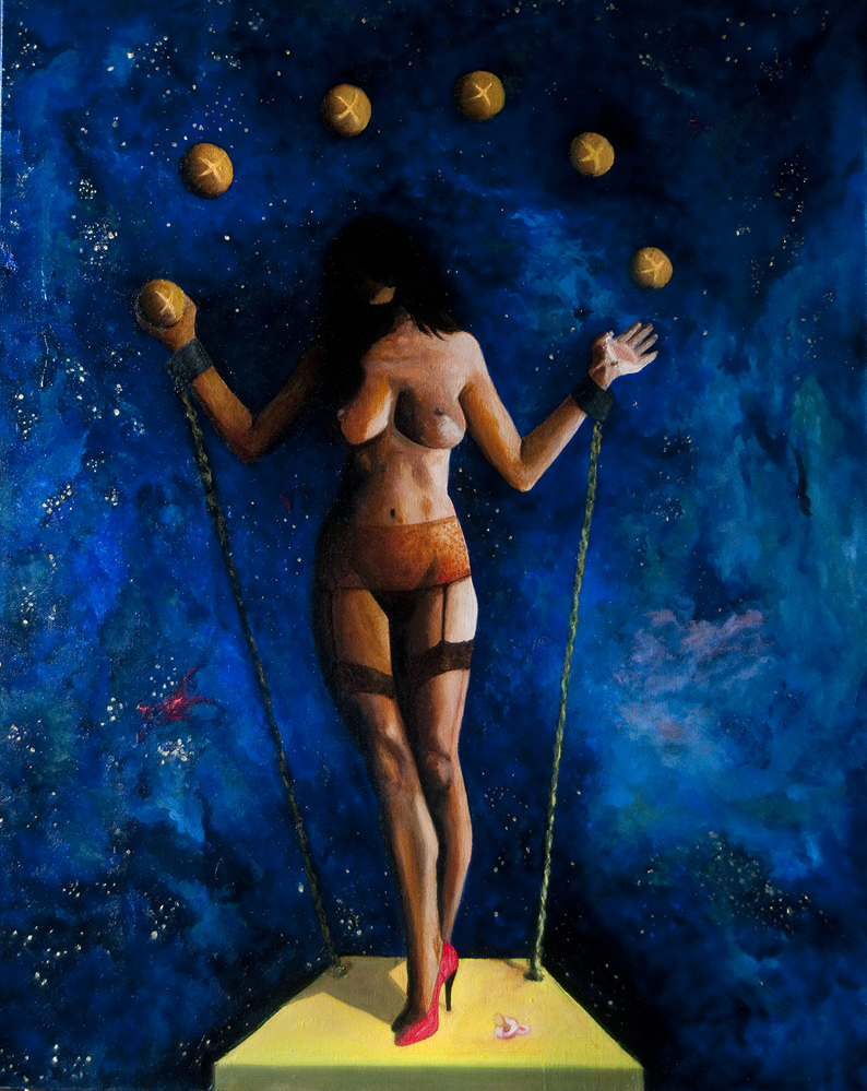 Breadwinner, oil on canvas, Size: 24W x 30H x 1.5D inches, click image to make larger