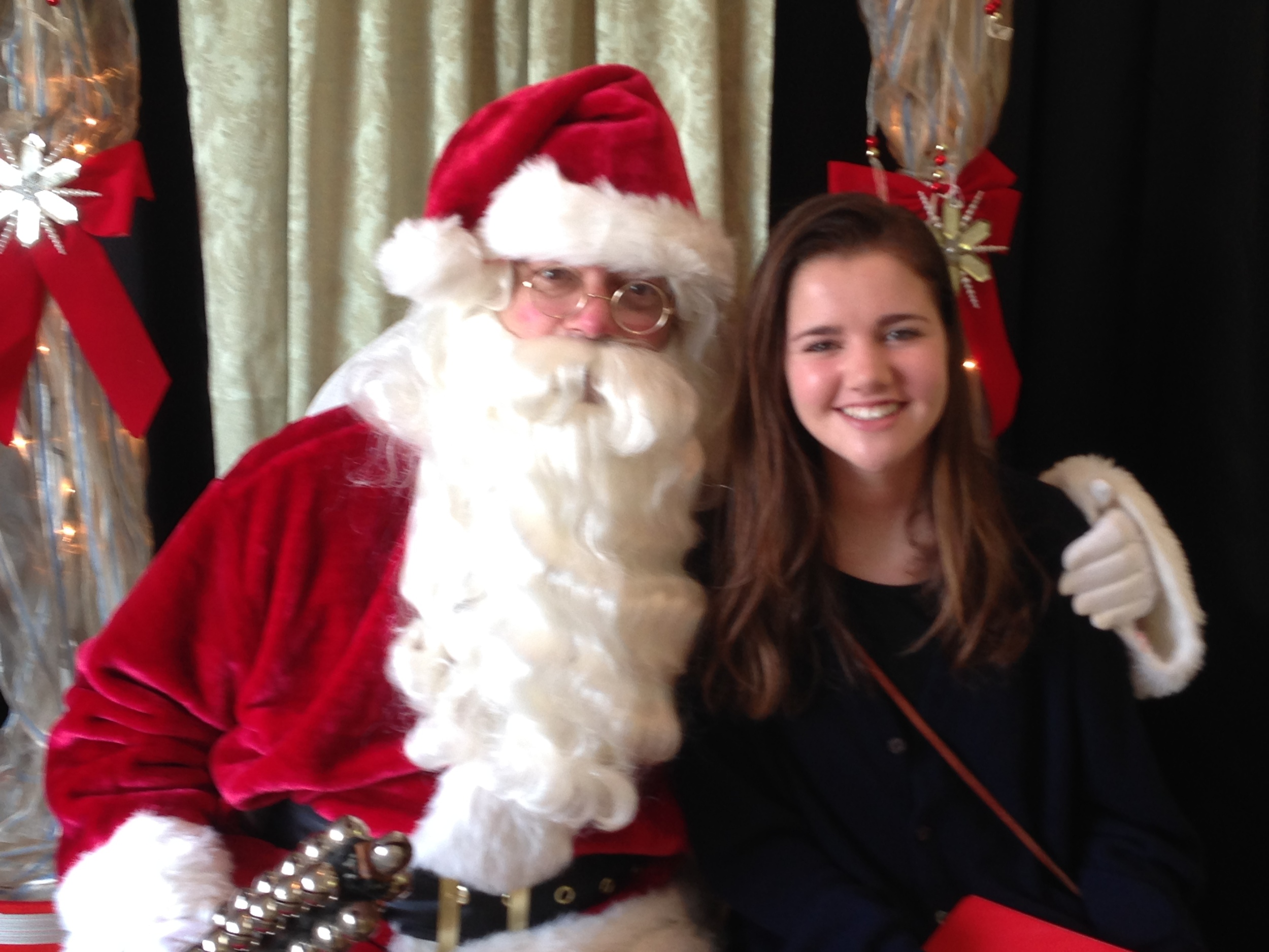 Santa with one of our CSPA singers!