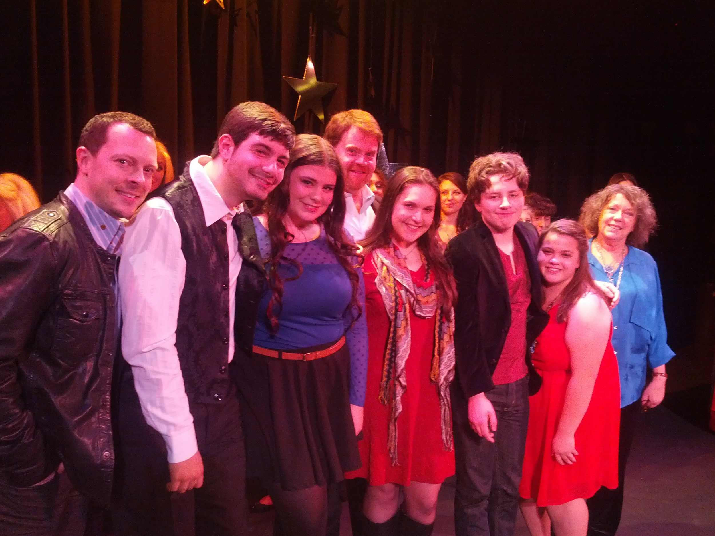 Ray and Carol produce Westchester Teen Idol, an annual contest. These are the 5 finalists with our Broadway judges.