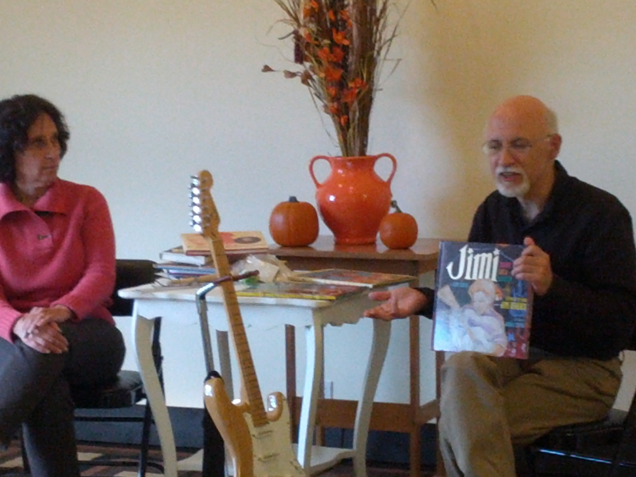 Guest speakers at a special event: Children's Authors Susanna Reich and her husband Gary Golio- Book signing and lots of cool information.