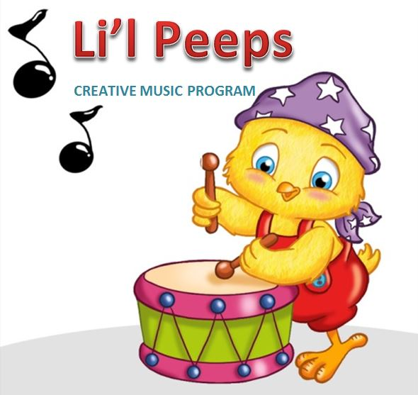LITTLE PEEPS CREATIVE MUSIC PROGRAM:  The Foundations of Music  AGES:  3-5 years old          $75.00      (  6)   45-minute sessions, 1:30-2:15            DATES TO BE DETERMINED - PLEASE CALL US IF INTERESTED 914-402-4250.