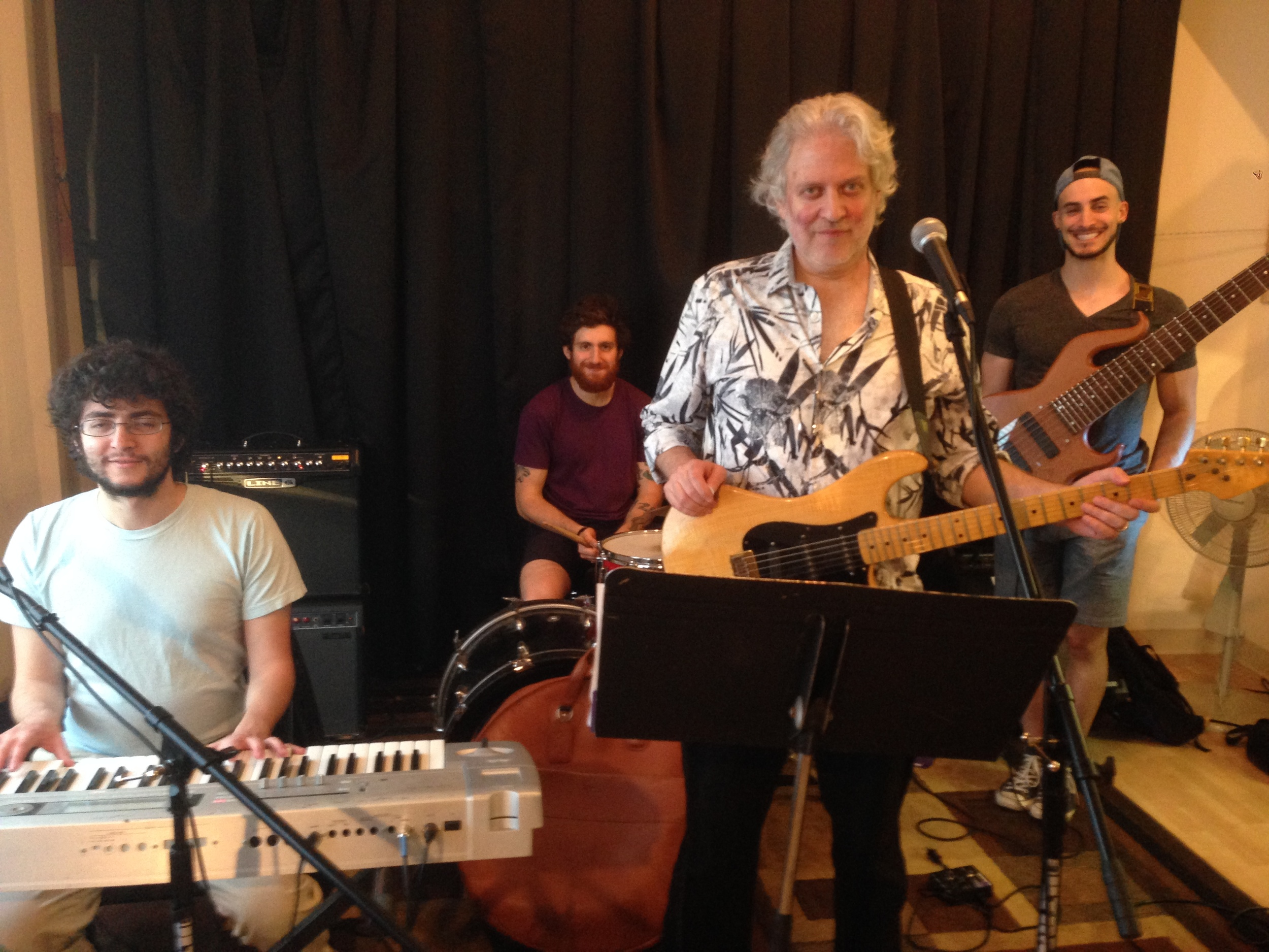 70's Pop Music Star Dean Friedman and his band