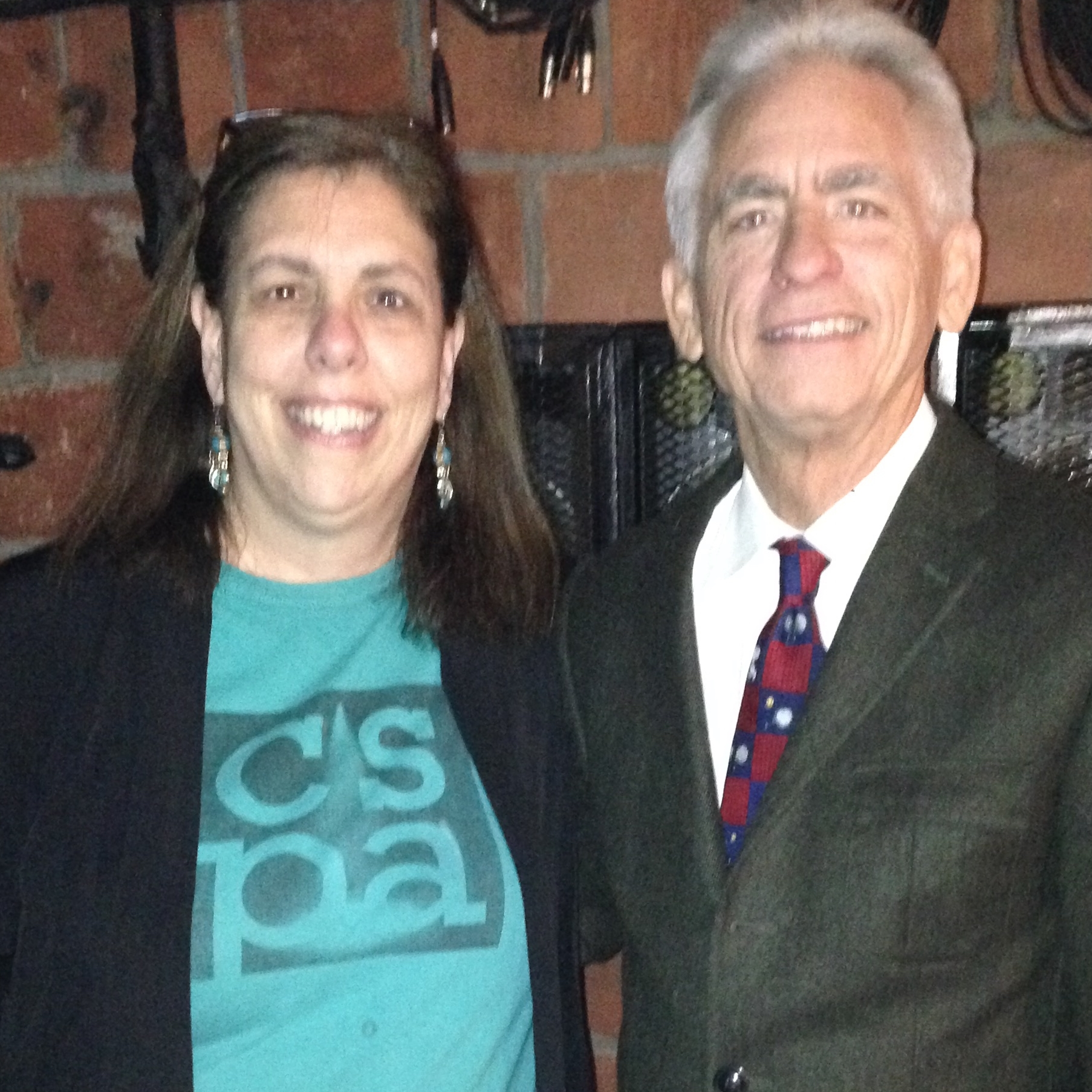 "Carol backstage with pianist and 3-time Grammy nominee, David Benoit, when the CSPA kids chorus performed for ""A Charlie Brown Christmas"" at the Paramount Hudson Valley."