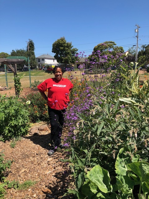 Wanda at Hoover Victory Garden, Oakland
