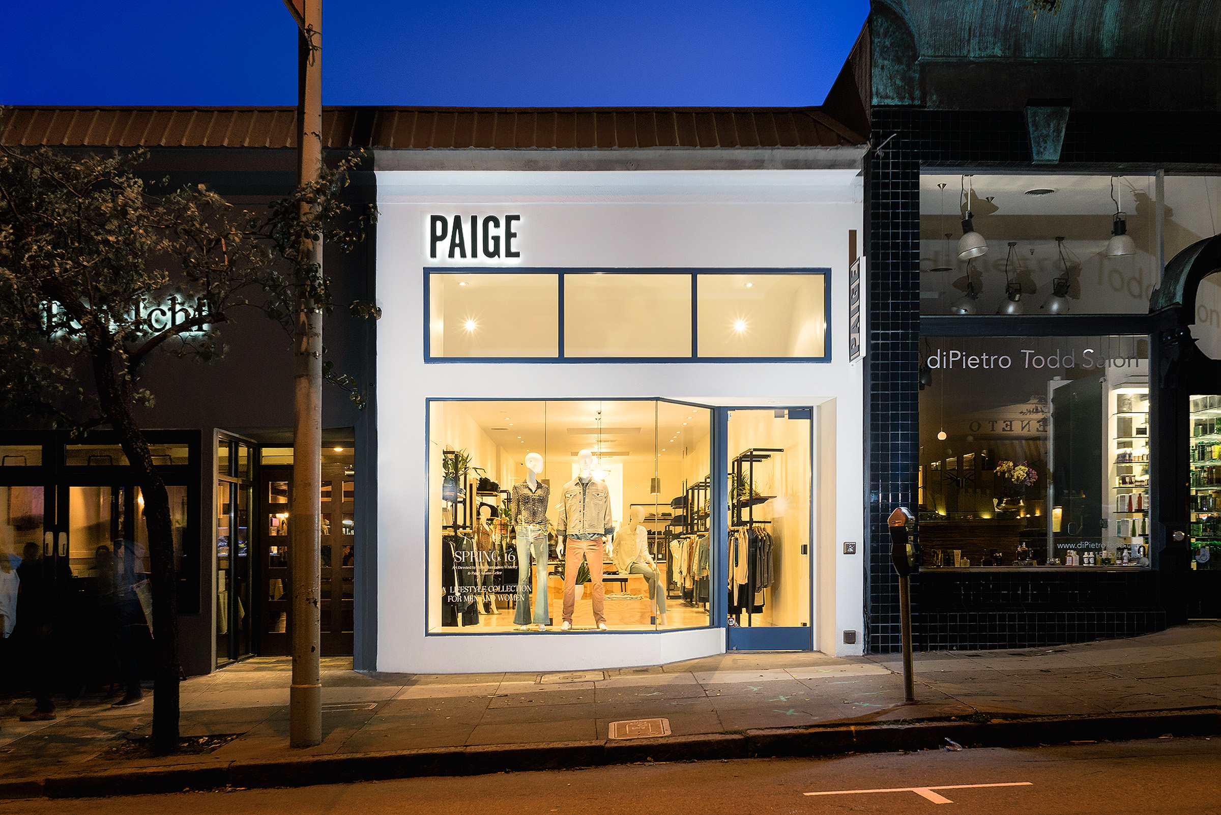 PAIGE DENIM.  A retail shop's flagship San Francisco store, completed in 5 weeks - just in time for the holidays