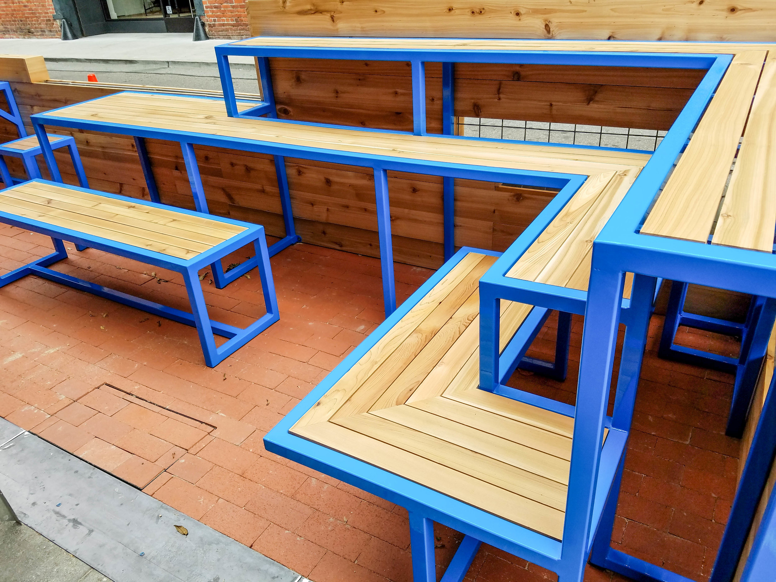 LITTLE SKILLET PARKLET.  A unique and inviting space to enjoy a meal or gather with friends.