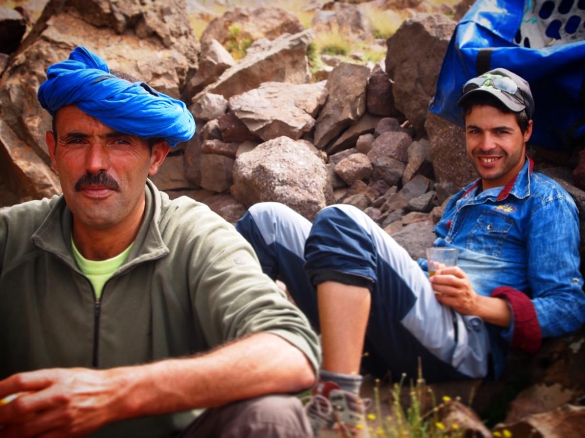 Berber boys of Toubkal