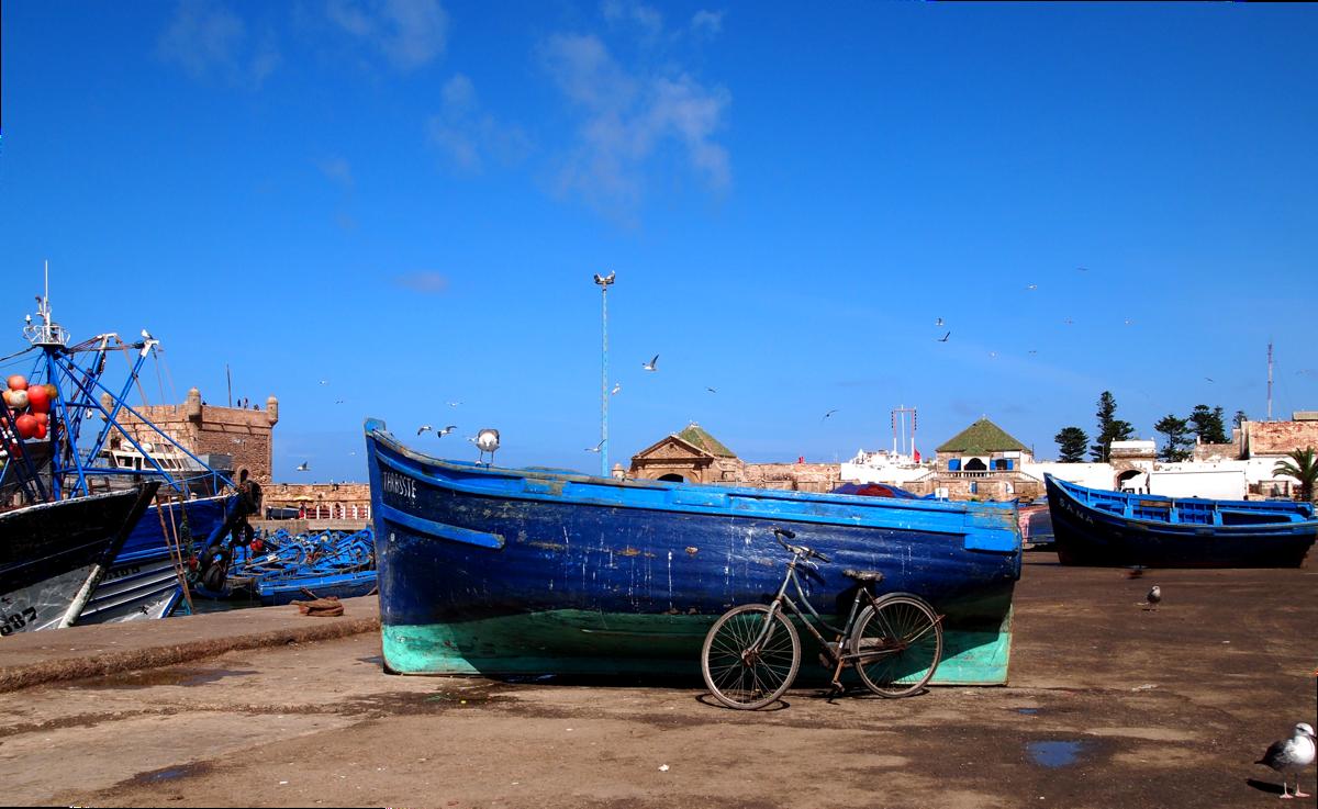 Blue Fishing Boats of Essaouira