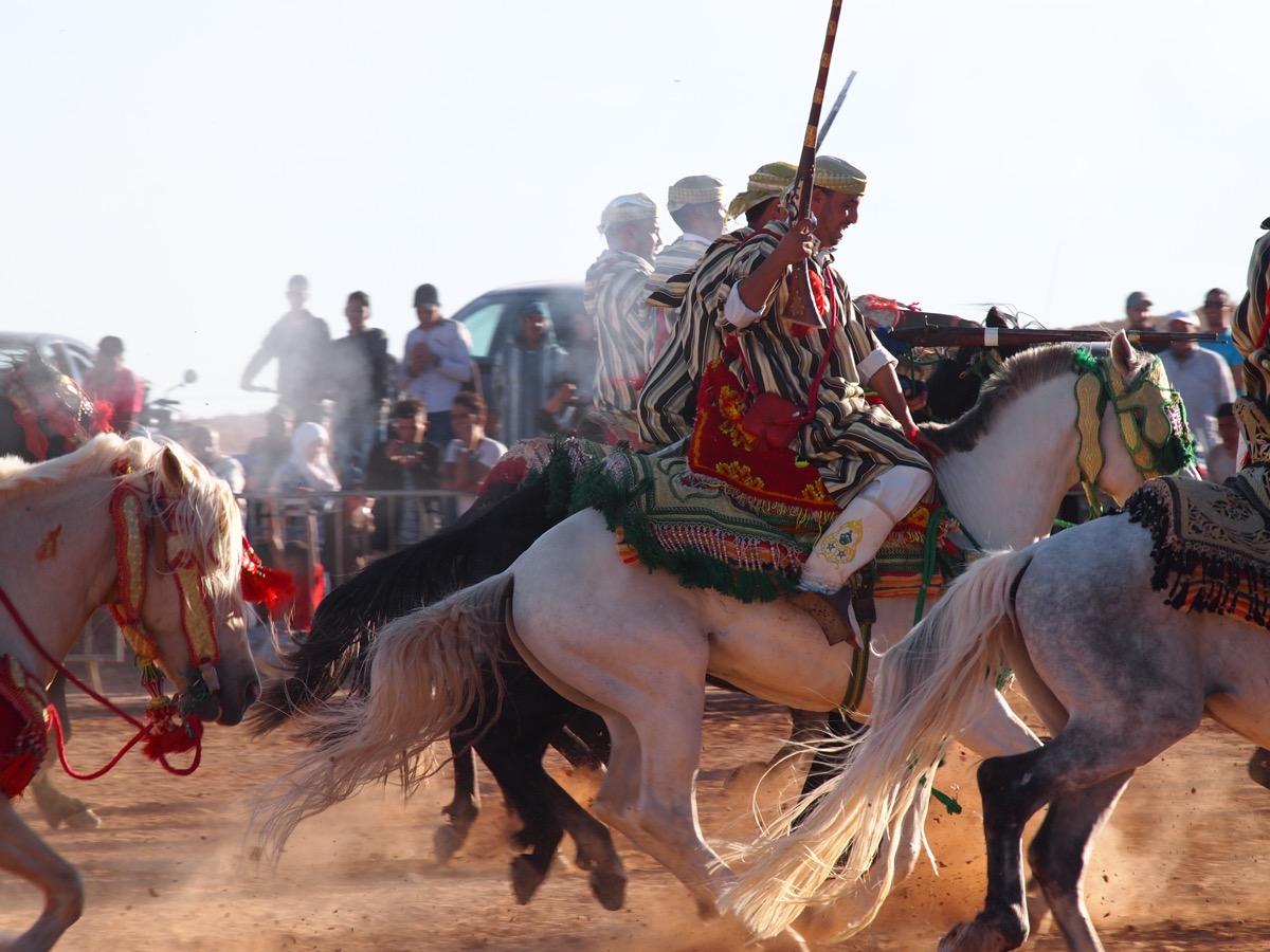 Fantasia Berber Horsemen, Rose Valley Festival