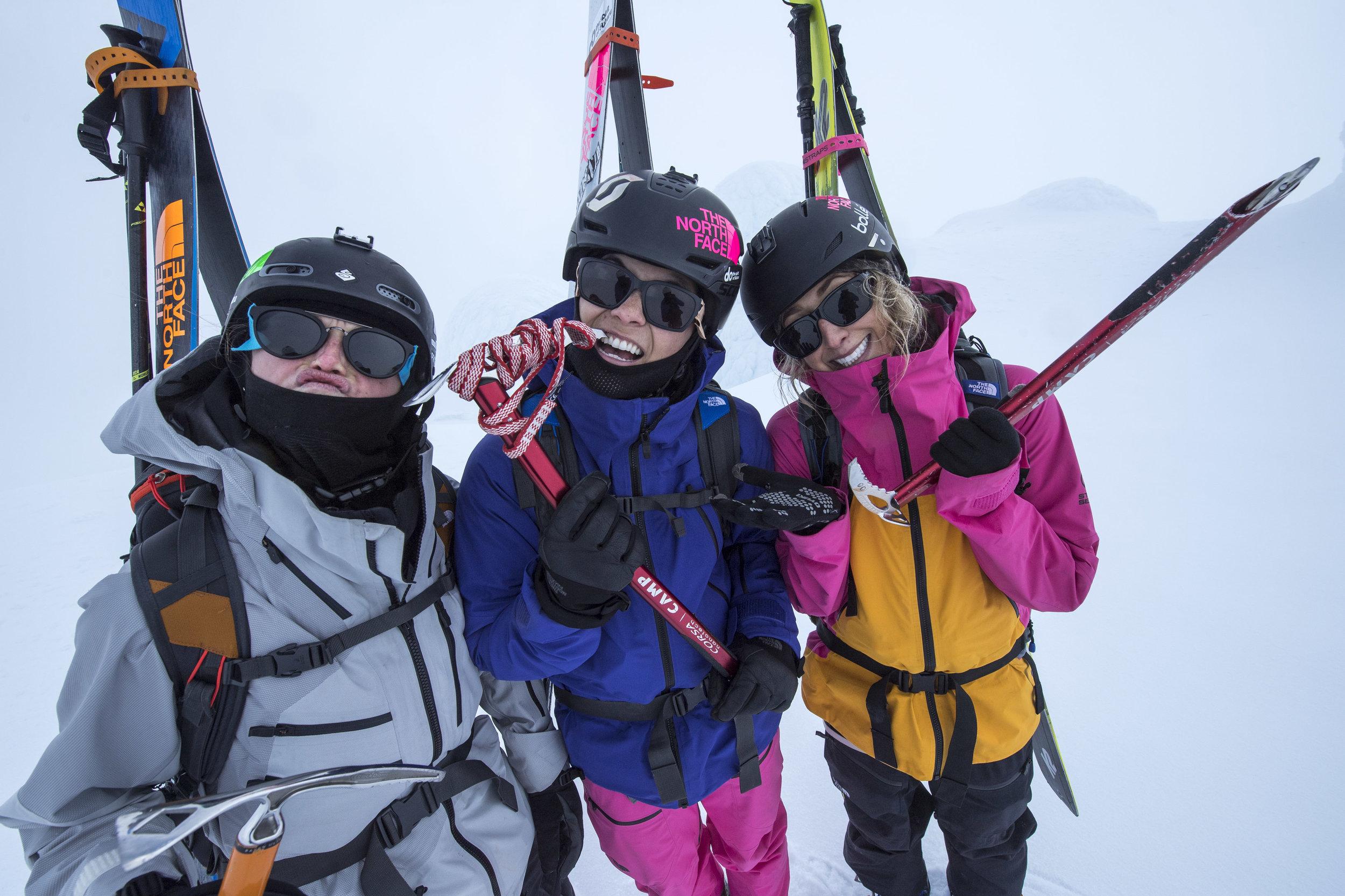 TNF Athlete - Eva, Janina & Anna - Mt Taranaki - Shot by Mark Watson