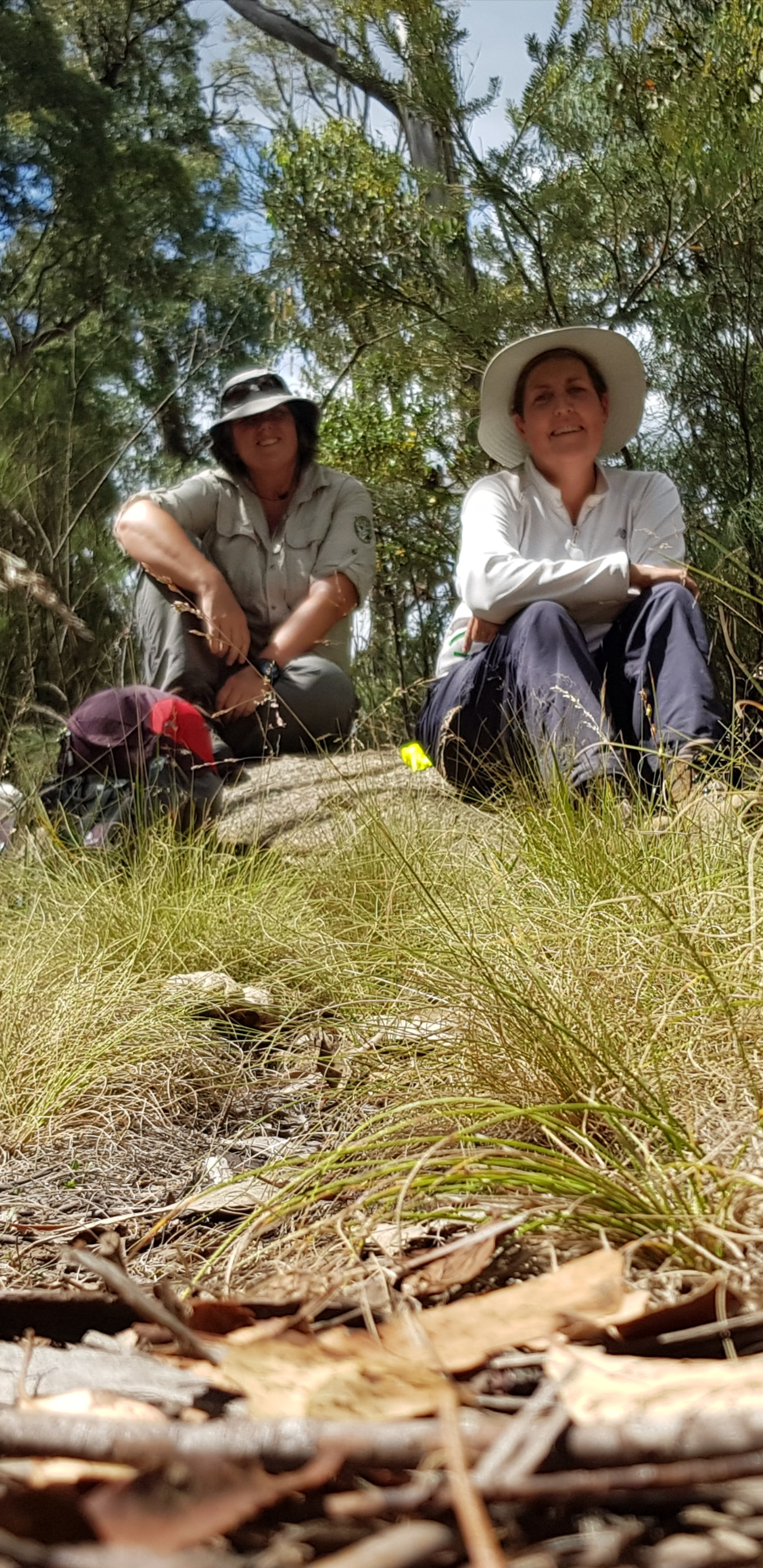 Terra Roam and Kelli Jackson (ACT Women's Adventure group leader and around the world unicyclist) out on an overnight walk in Namadgi National Park.
