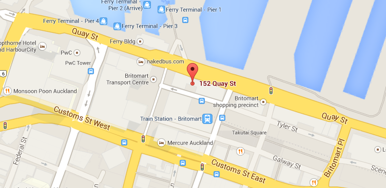Level 4, 152 Quay Street Auckland 1010  Click here to download PDF directions