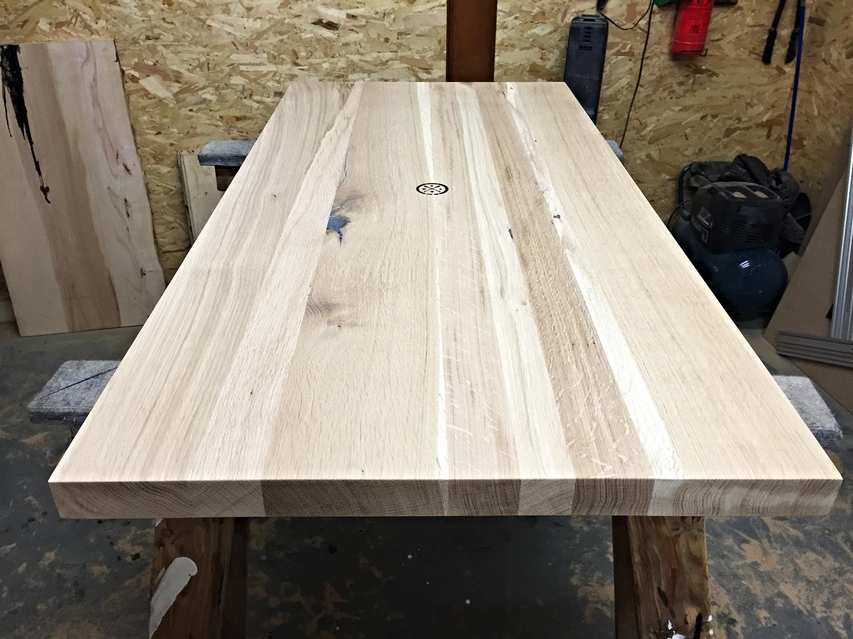 Bordet er nu slebet færdigt, og den ønskede behandling kan påbegyndes.