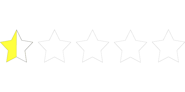 Half Star, by  Clker Free Vector Images  CC0