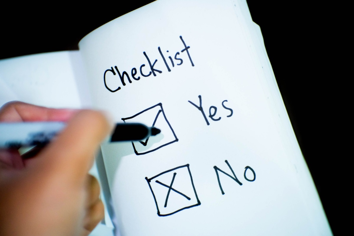 Research checklist, from Stencil. Licence: CC0