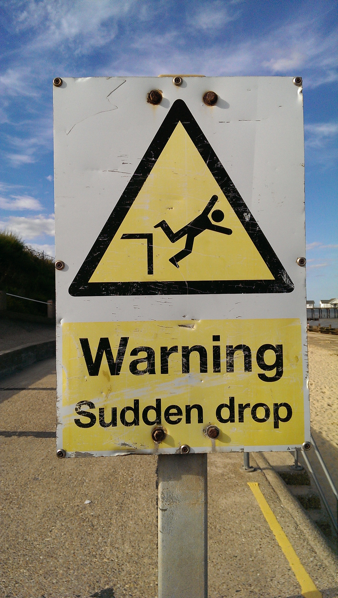 Warning: sudden drop!