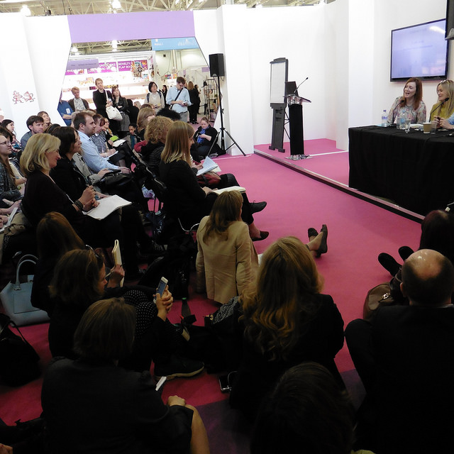 A session in full swing at the London Book Fair -- photo by Terry Freedman