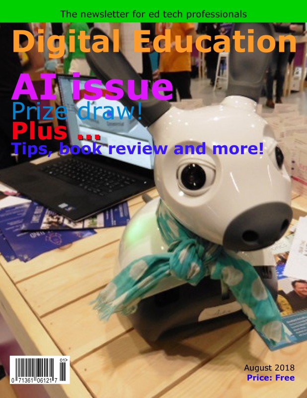 The cover of the latest issue of Digital Education
