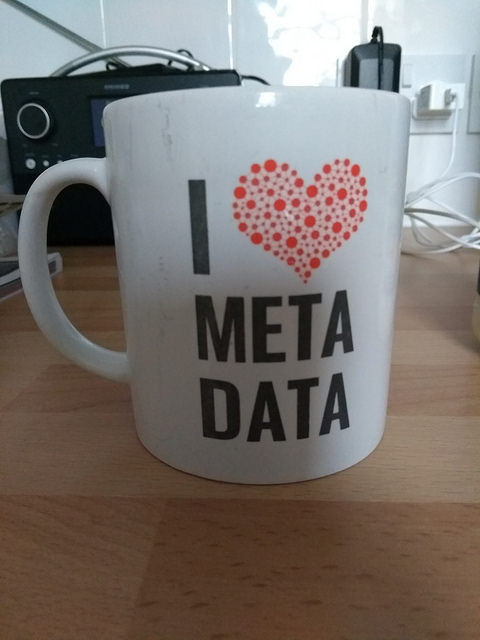 I love metadata, by Terry Freedman. The photo bears merely a tenuous relation to the subject matter: I always need a cup of tea to help me survive at conferences!