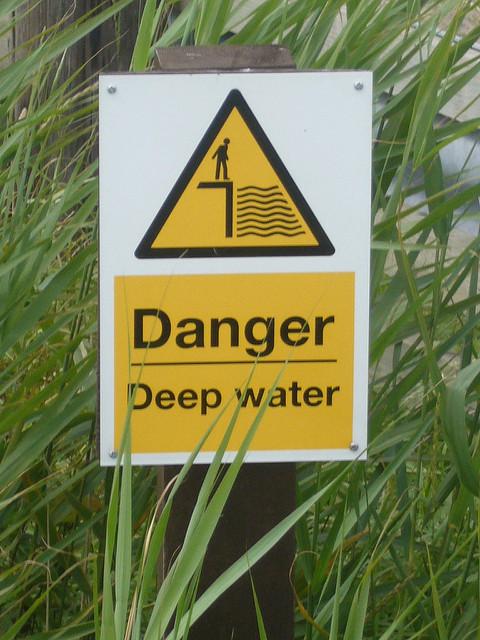 Danger: deep water. Photo by Terry Freedman