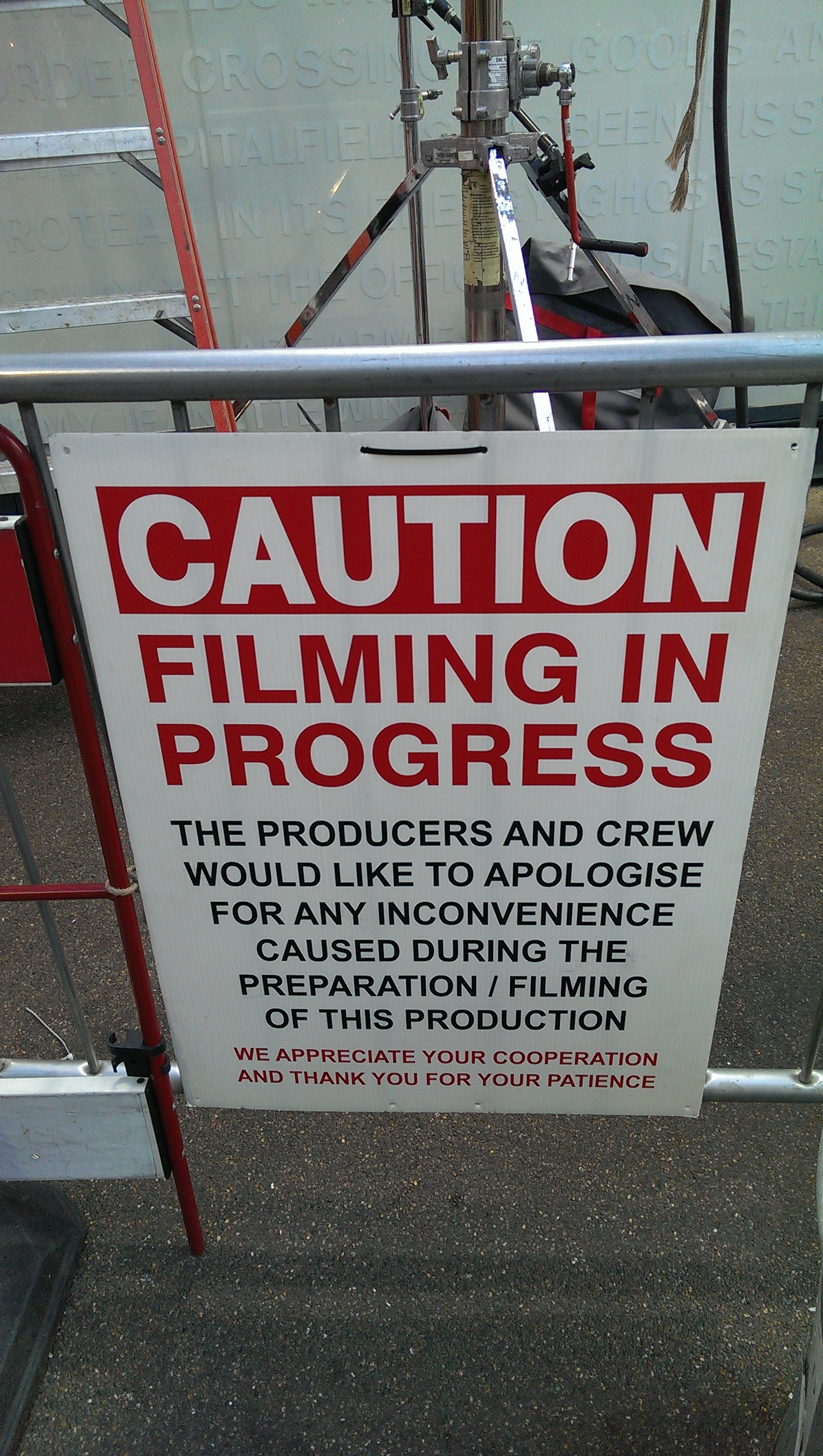 Filming in progress, by Terry Freedman
