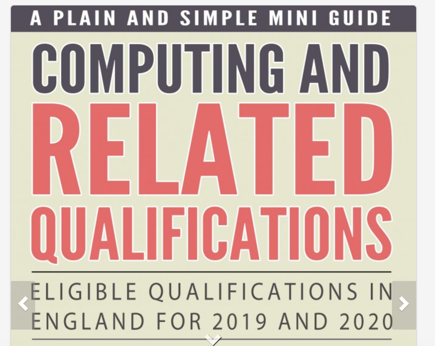 Computing and Related Qualifications
