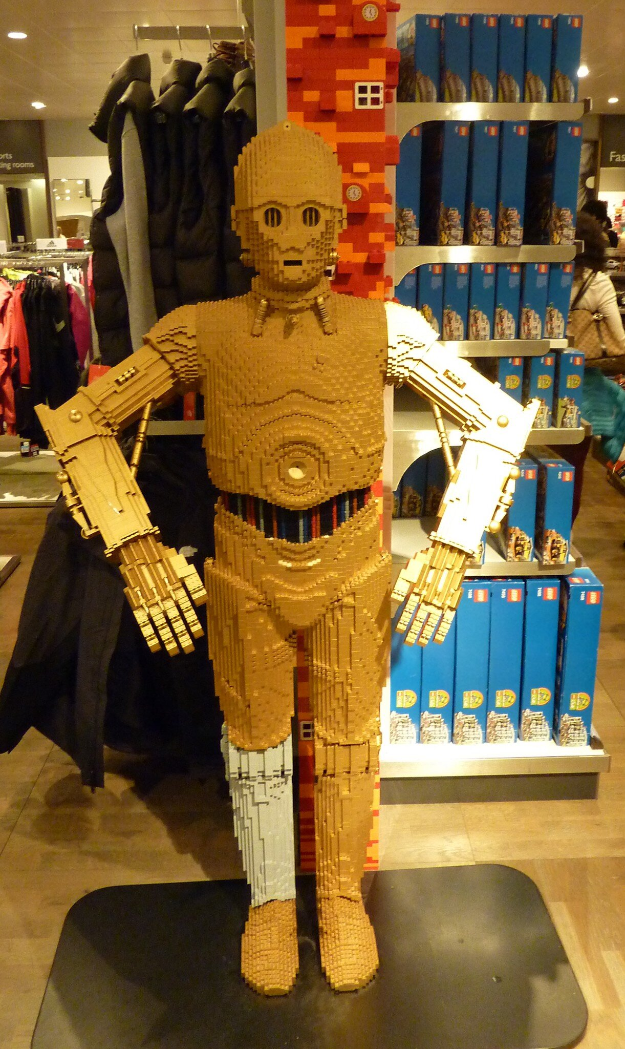 Robot made of Lego, at John Lewis, Photo by Terry Freedman