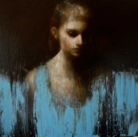 Mark Demsteader, Passage no2, Oil on Canvas, 109 x 109 cm
