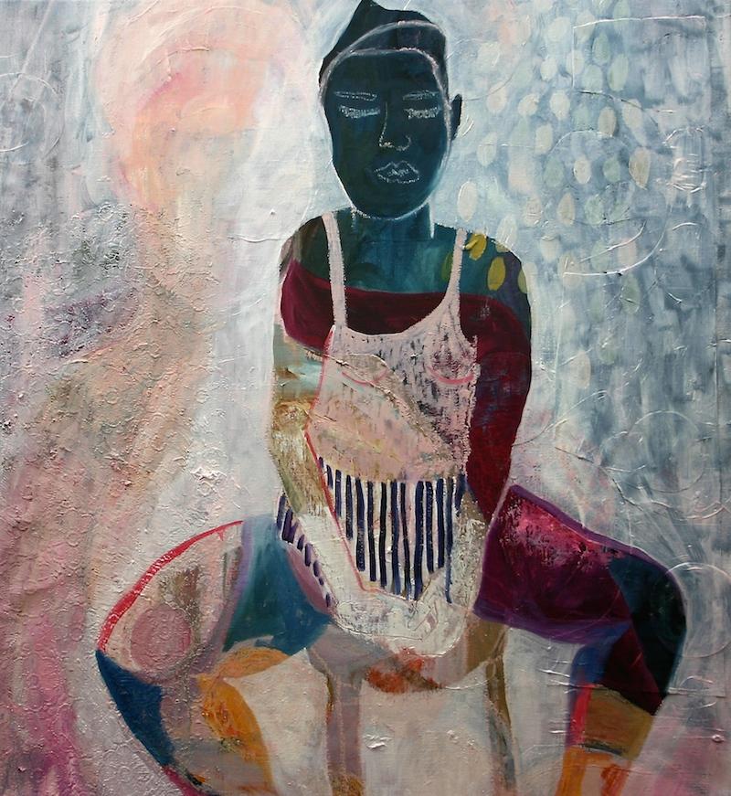 Jacqueline van der Plaat, Transformation Acrylic/ Oil, Mixed Media on Canvas, 60 x 65 cm