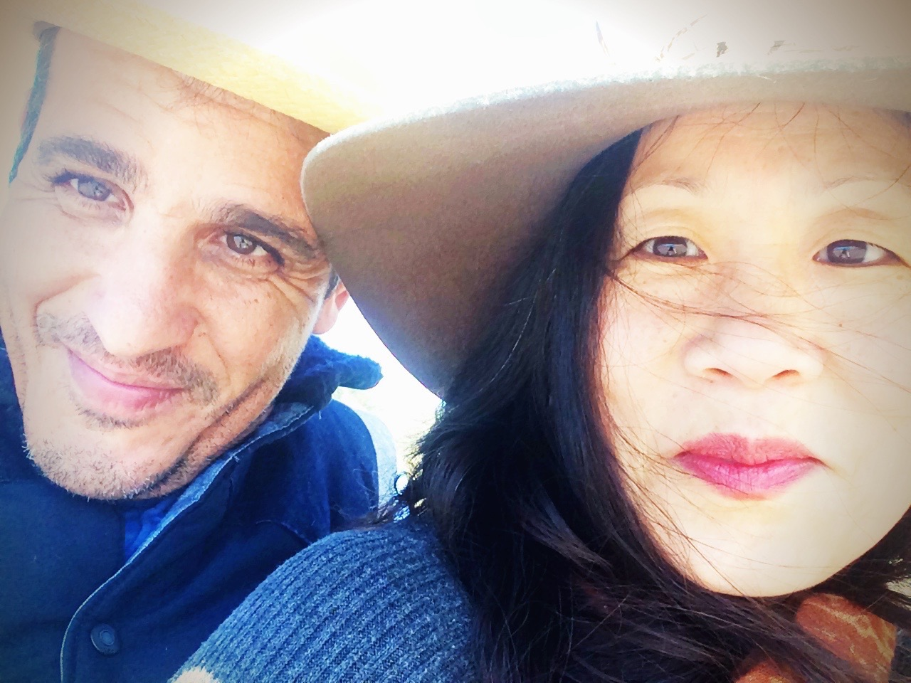 The author, Abdelali Dahrouch, and his wife, Laura Kuo.