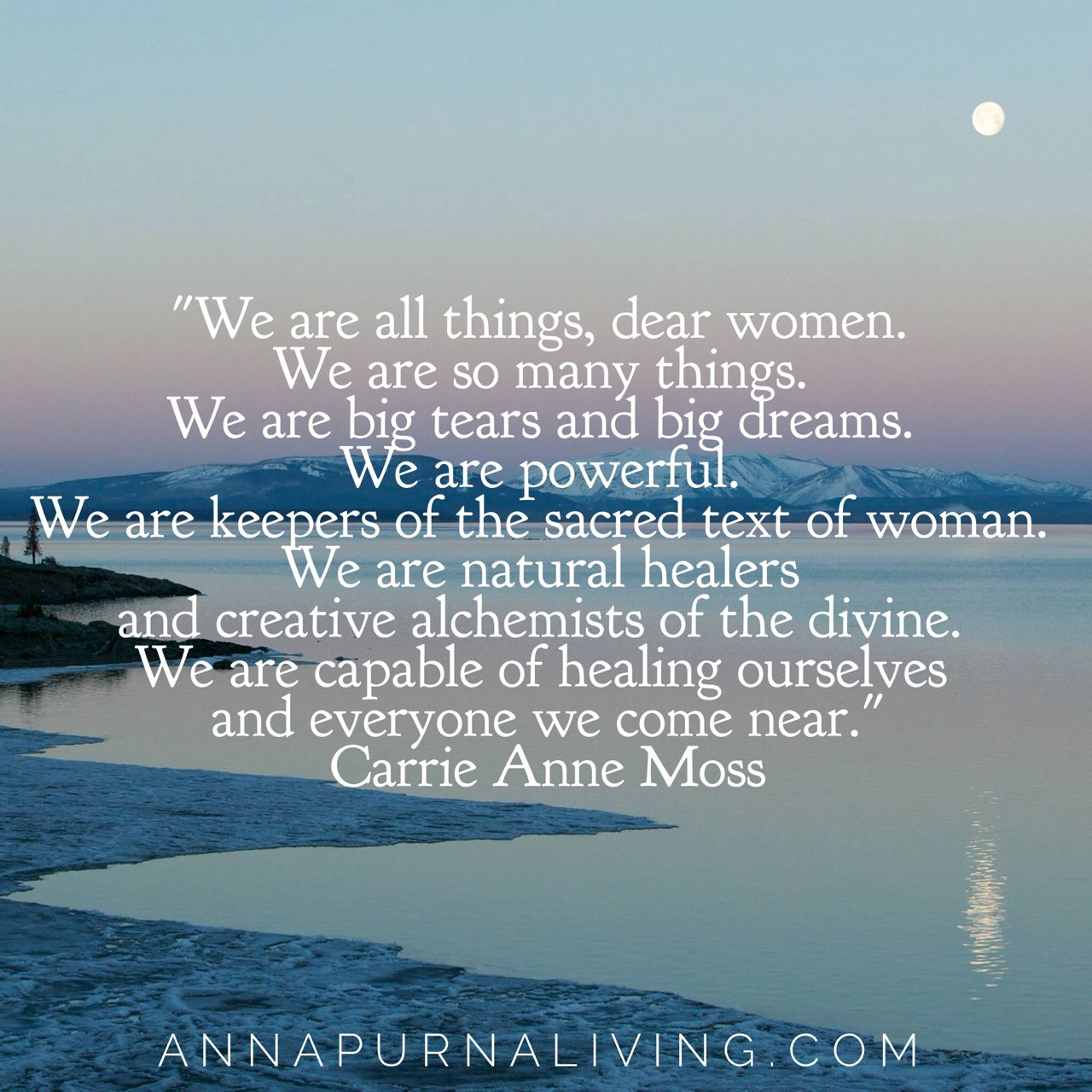 Dear Women via #AnnapurnaLiving