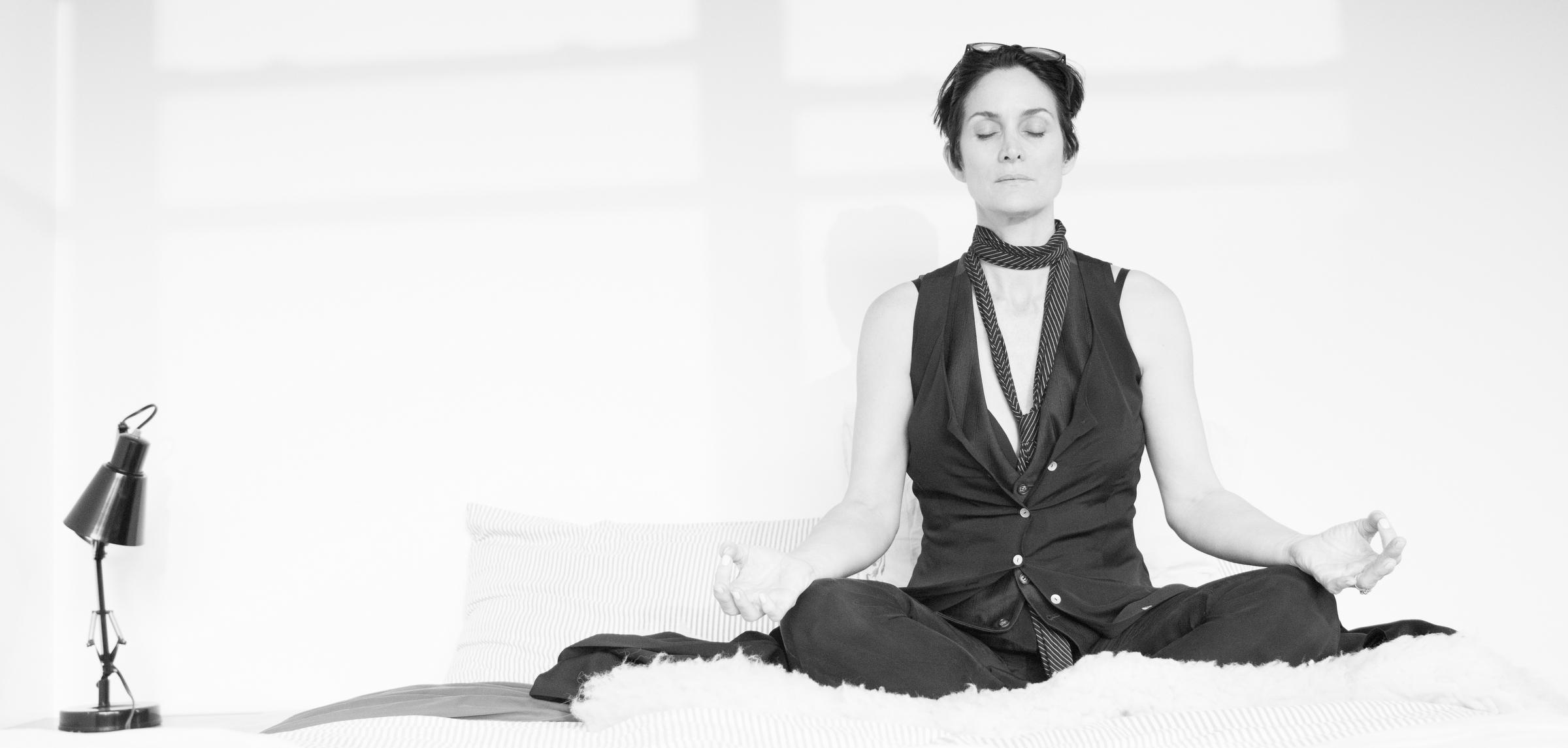 Carrie-Anne Moss Meditation