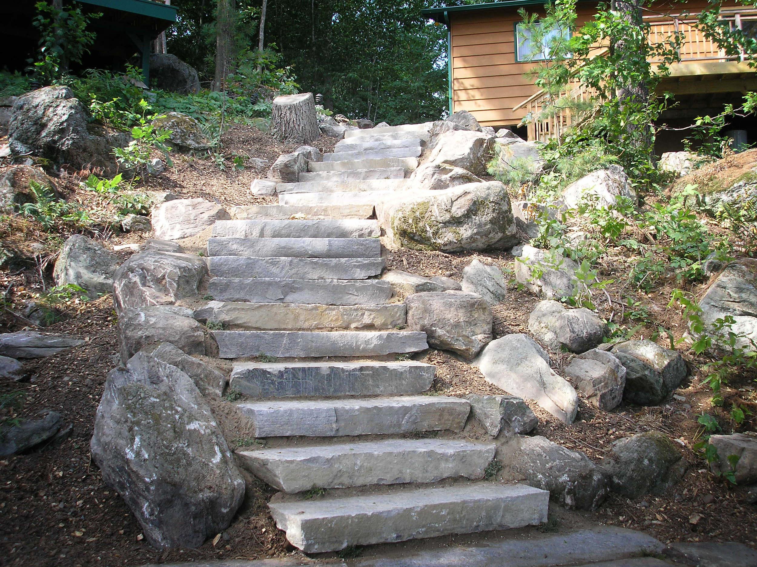 4 Foot Granite Stairs