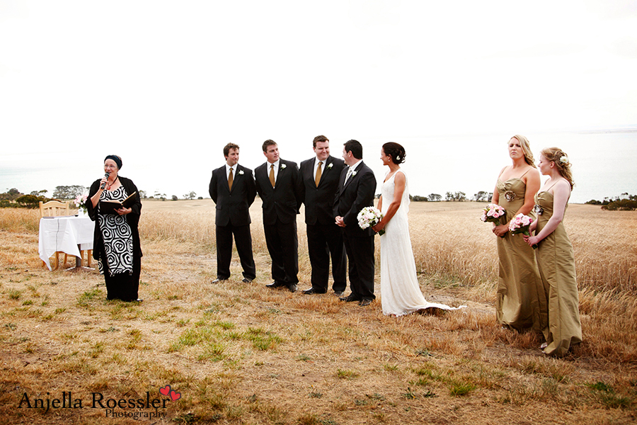 Nettie officiating at a gorgeous outdoor wedding in the Geelong region