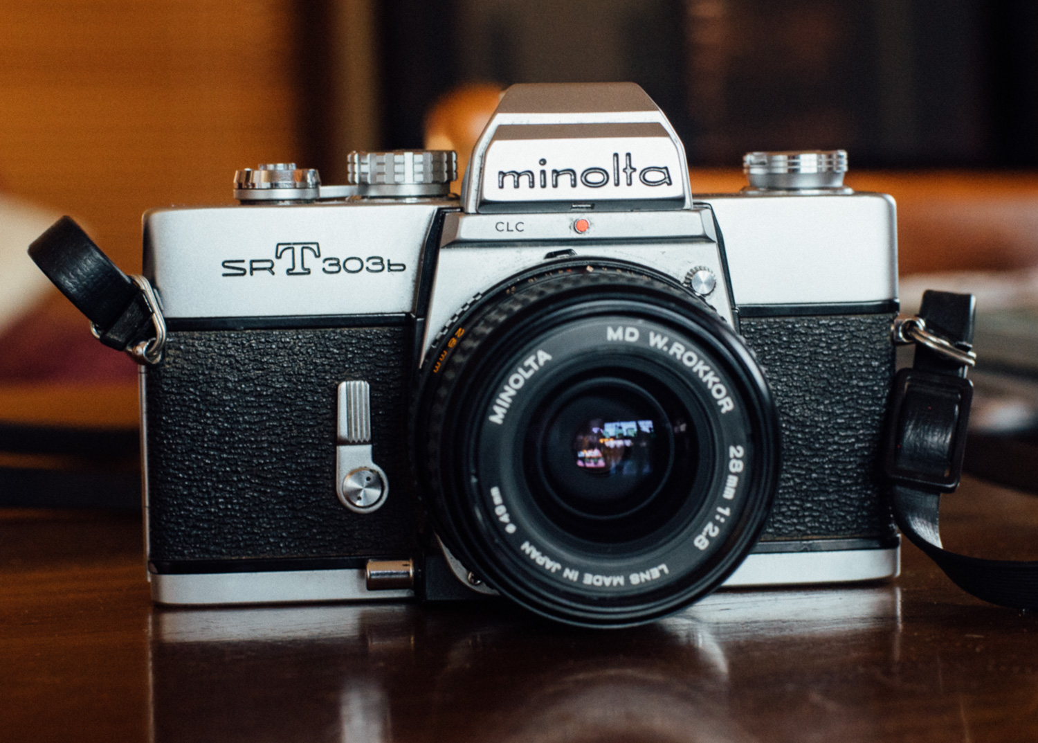 Beautiful and sparse, the Minolta SRT 303b. No gimmicks just all you need basics.