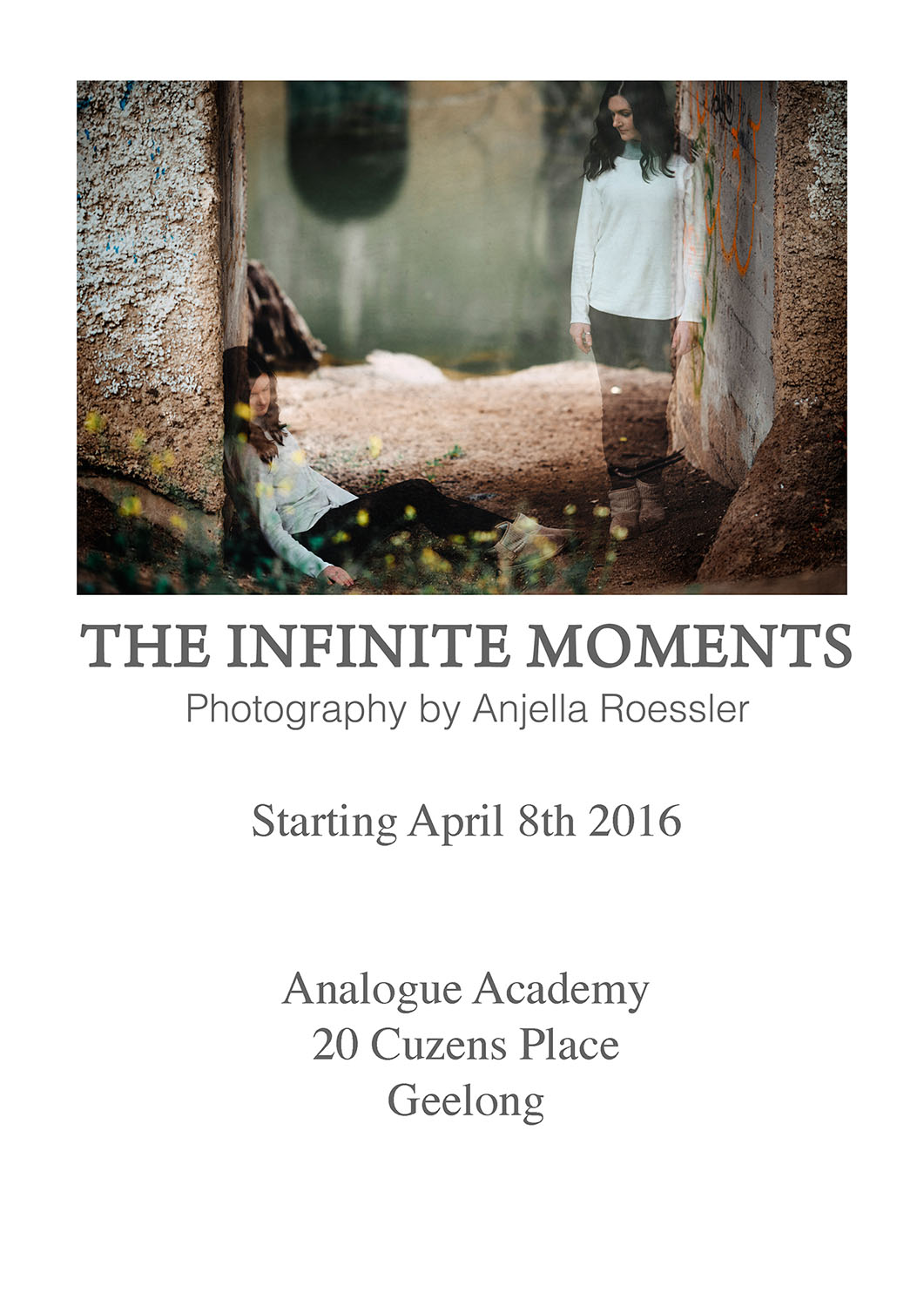 The Infinite Moments exhibition is on for a month at Analogue Academy, Geelong. Let me know what you think!