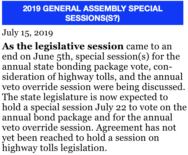 item #1 7:15:19 2019 GENERAL ASSEMBLY SPECIAL SESSIONS(S?) screenshot.png