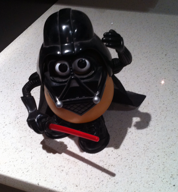 """I am your counter, Roo,"" says Darth Tater."