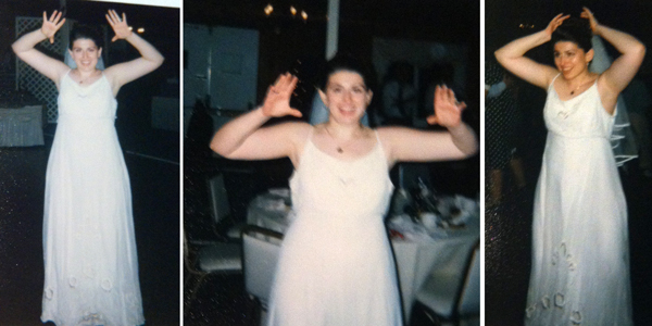 Me doing the Chicken Dance at my Pennsylvania wedding on September 14, 1996.
