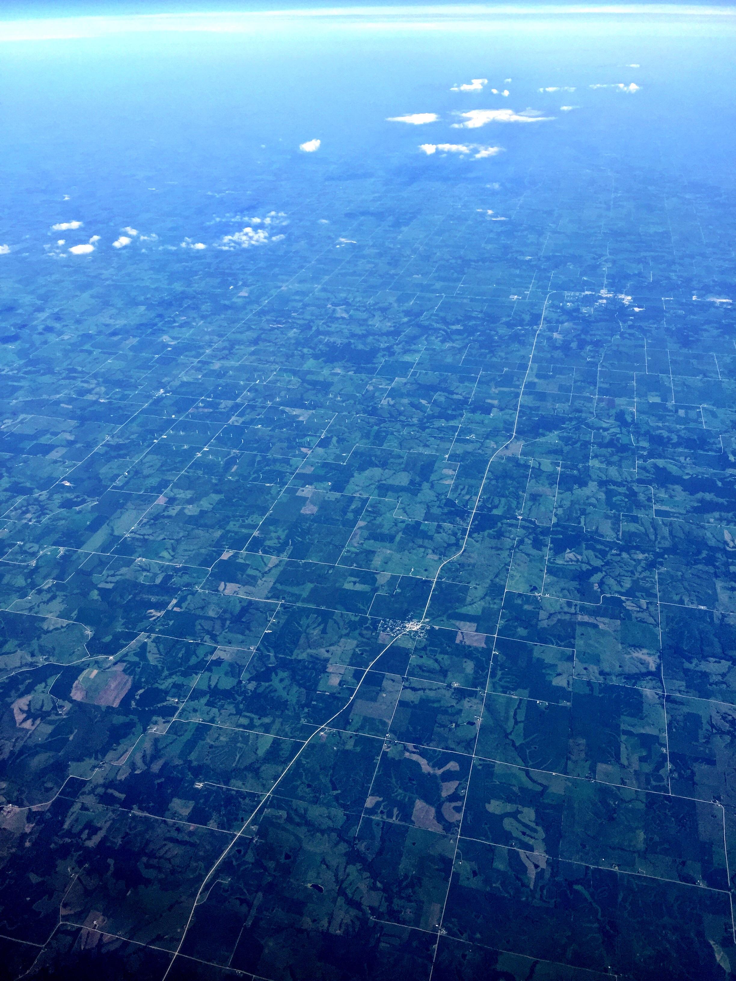 Over Jones, Iowa, at 11:01 AM.