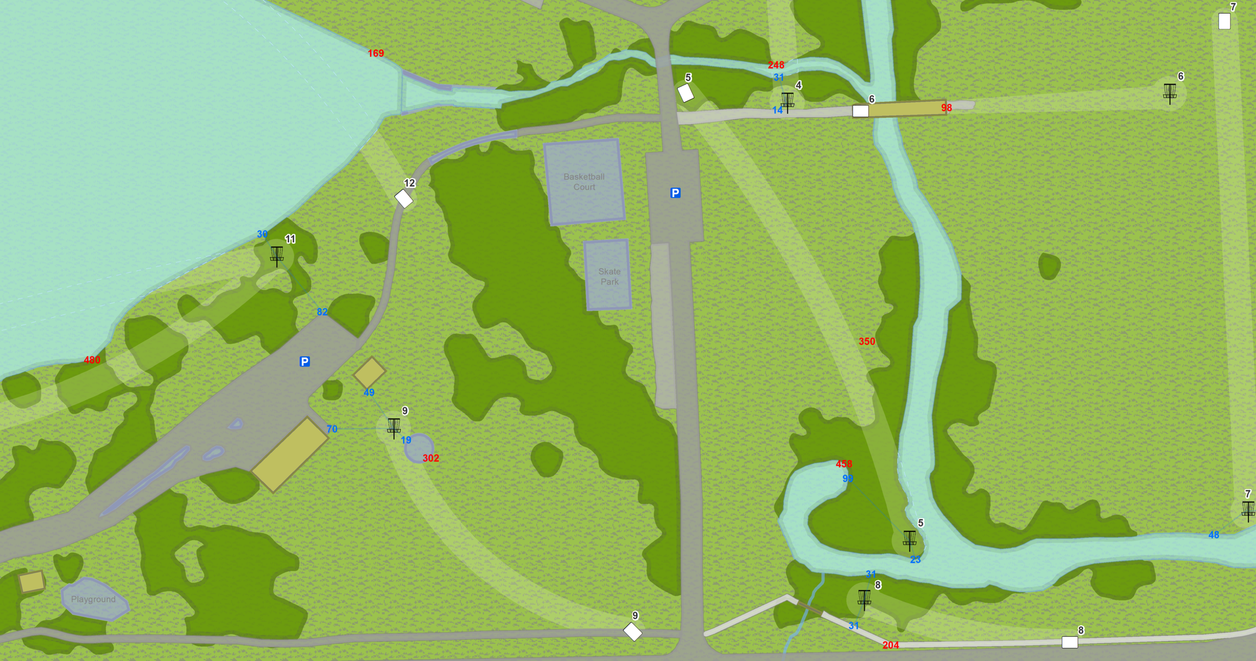 Sneak peak of the temporary course at Eureka Lake Park, Eureka IL