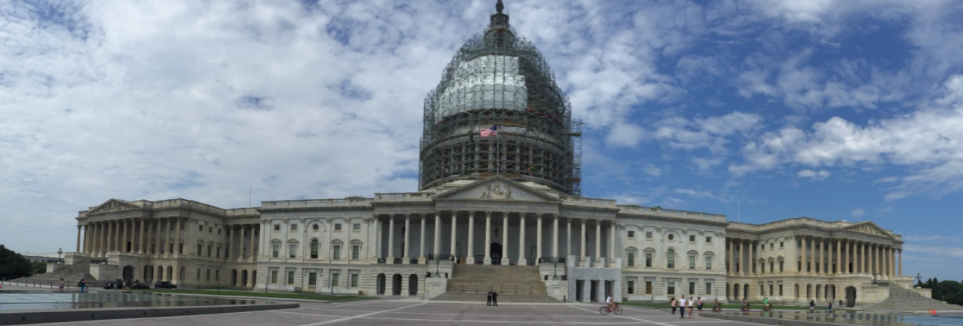 Panoramic view of the Capital under renovation for 2017 inauguration.