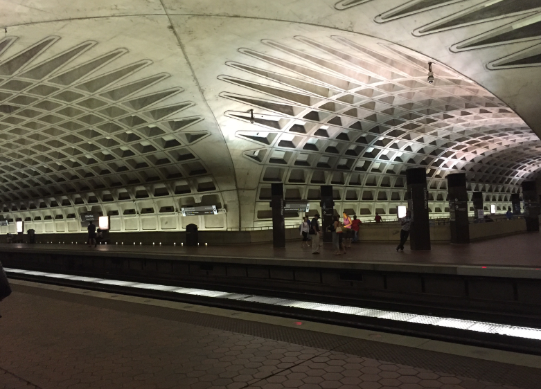 The Metro transfer station under the Archives.