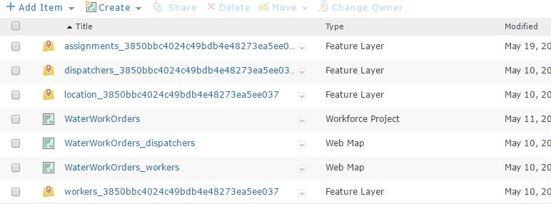 Items from each project are created and auto-stored in My Content under a new folder