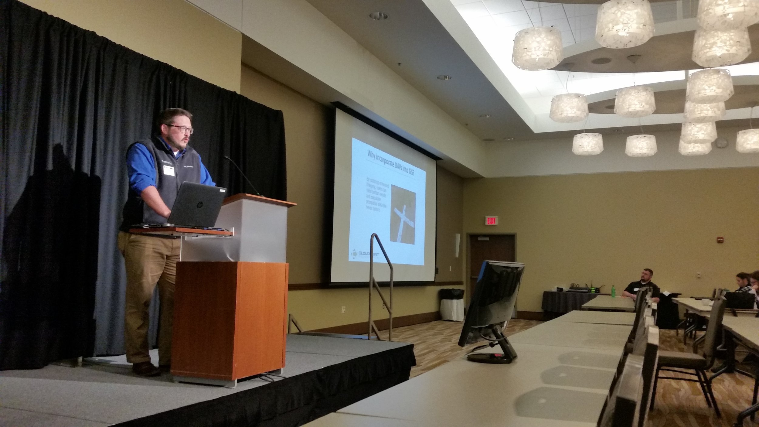 Joe Christian presents a Lightning Talk about UAV Mapping at the University of Illinois GIS Day.